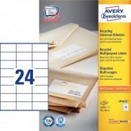 Reciklirane univerzalne etikete 70 x 36 mm
