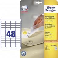 Odstranljive univerzalne etikete 45,7 x 16,9 mm