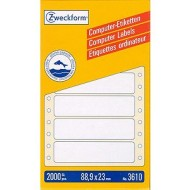 Etikete za matrične tiskalnike 88,9 x 23