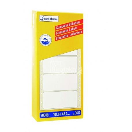 Etikete za matrične tiskalnike 101,6 x 48,4 mm