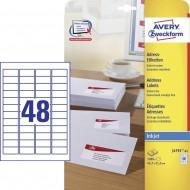 Etikete za pisma 45,7 x 21,2 mm