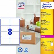 Reciklirane etikete za B4/C4 ovojnice 99,1 x 67,7 mm