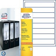 Etikete za ozke registratorje 192 x 34 mm 1/25