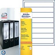 Etikete za ozke registratorje 192 x 34 mm 1/10