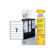 Odstranljive etikete za ozke registratorje 192 x 38 mm 1/20