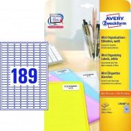 Mini etikete za označevanje 25,4 x 10 mm