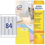 Mini etikete za označevanje 46 x 11,1 mm