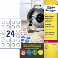 Odstranljive kontrolne etikete, Ø 30 mm