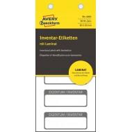 Etikete za označevanje inventarja, z zaščitno folijo 50 x 20 mm