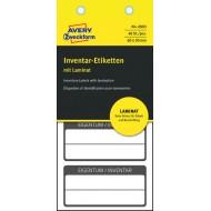 Povečaj / Več slik Etikete za označevanje inventarja, z zaščitno folijo, 60 x 30 mm črna