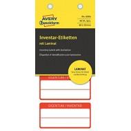 Etikete za označevanje inventarja, z zaščitno folijo, 60 x 30 mm rdeča