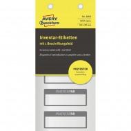 Etikete za označevanje inventarja, metaliziran poliester črna