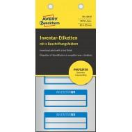 Etikete za označevanje inventarja, metaliziran poliester modra