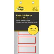 Etikete za označevanje inventarja, metaliziran poliester rdeča