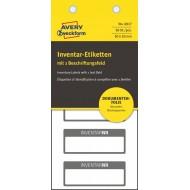 Etikete za označevanje inventarja 50 x 20 mm