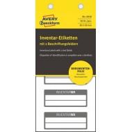 Etikete za označevanje inventarja 50 x 20 mm, 2 vrstici