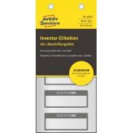 Etikete za označevanje inventarja, aluminijske, 1-vrstične