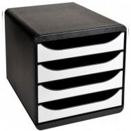 Predalnik Multiform T-Office Set, 4 predali, črn