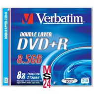 DVD+R Verbatim, dvoplastni, 1/1