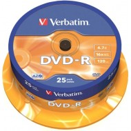 DVD-R Verbatim, na osi 25/1
