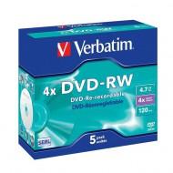 DVD-RW Verbatim, dvoslojni, 5/1