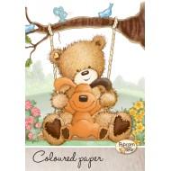 Kolaž papir Popcorn Bear A4