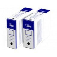Arhivska škatla Forpus – A4/100 mm, modro bela