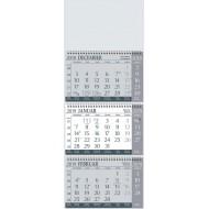 Tridelni koledar s špiralo 2019, siv