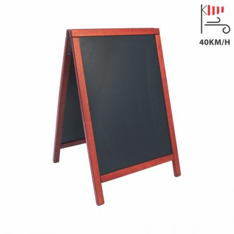 ČRNA TABLA na A stojalu 85x55cm Securit® DeLuxe - bordo okvir