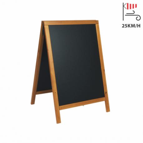 ČRNA TABLA na A stojalu 85x55cm Securit® Woody - sv. rjav okvir