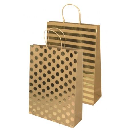 Darilna vrečka Eco Gold, jumbo