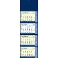 Štiridelni koledar s špiralo 2020, modro rumen