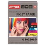 Foto papir Activejet 10 x 15 cm, Inkjet Glossy 260g, 100/1
