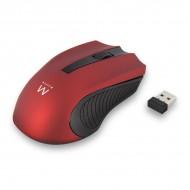 Miška Ewent Wireless Optical, 1000dpi, rdeča, USB