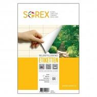 Etikete Sorex 48,5 x 16,9 mm, 100/1