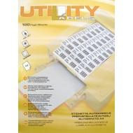 Etikete Utility 25,4 x 10 mm