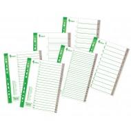 Ločilni listi A4 PP 1-5, sivi