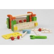 Lesena delovna miza z orodjem (art. 33289)