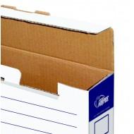 Arhivska škatla Forpus - A4/80 mm, modro bela