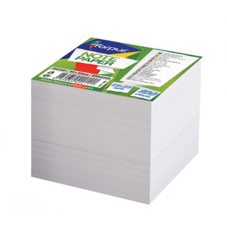 Vložni lističi za blok kocko Forpus, beli - 85 x 85 mm