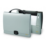 Kovček Forpus za dokumente A4, srebrn