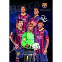 Zvezek z mehkimi platnicami A4 brez črt, FC Barcelona