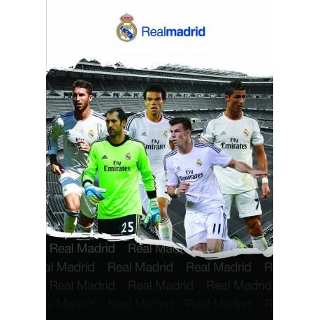 Zvezek mehke platnice A5 črte, Real Madrid 61981