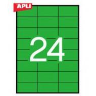 Etikete Apli 70 x 37 mm, zelene
