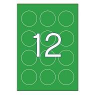 Etikete Apli Fi 60 mm, zelene