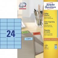 Etikete za označevanje, modre 70 x 37 mm