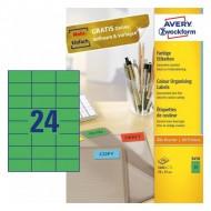 Etikete za označevanje, zelene 70 x 37 mm - 3450