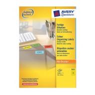 Etikete za označevanje, rumene 70 x 37 mm - 3451