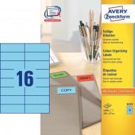 Etikete za označevanje, modre 105 x 37 mm
