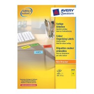 Etikete za označevanje, rumene 105 x 37 mm - 3455